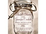 "Country themed Bridal Shower Invites Country Mason Jar Rustic Bridal Shower Invitations 4 5"" X"