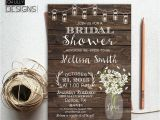 Country themed Bridal Shower Invites Rustic Bridal Shower Invitation Printable by