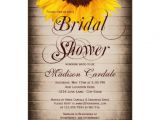 Country themed Bridal Shower Invites Rustic Country Sunflower Bridal Shower Invitations