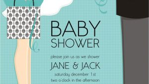 """Couple Baby Shower Invites Quick View Dm In 287 """"classic Couple Baby Shower"""