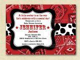 Cowboy Baby Shower Invites Baby Shower Invitation Bandana Invitation Bandana by