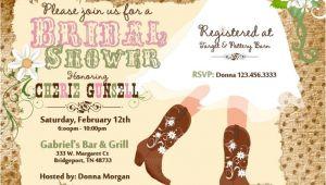 Cowboy Boot Bridal Shower Invitations Cowboy Boot S Bridal Shower Printable Invitation