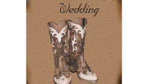 Cowboy Boot Wedding Invitations Western Cowboy Boots Wedding Invitation 5 Quot X 7 Quot Invitation