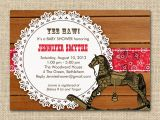Cowboy themed Baby Shower Invitations Chandeliers & Pendant Lights