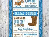 Cowboy themed Baby Shower Invitations Cowboy themed Baby Shower Items for Western theme