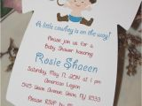 Cowboy themed Baby Shower Invites Cowboy themed Baby Shower Esie Invitation Baby Cowboy