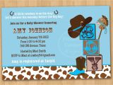 Cowboy themed Baby Shower Invites Western Baby Shower Invitations Template Resume Builder
