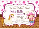 Cowgirl Birthday Invitations Templates Cowgirl Birthday Invitations Templates