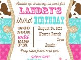 Cowgirl Birthday Invitations Templates Cowgirl Party Invitations