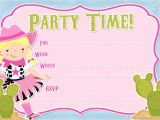 Cowgirl Birthday Invitations Templates Free Printable Party Invitations Free Cowgirl Invitations
