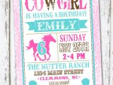 Cowgirl Birthday Invitations Templates Western Cowgirl Birthday Invitation