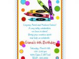 Craft Party Invitation Template Art Party Birthday Invitations Party Invitations Ideas