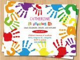 Craft Party Invitation Template Arts and Crafts Birthday Party Invitations Free
