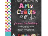 Craft Party Invitation Template Arts Crafts Party Chalkboard Style Invitation Zazzle Com