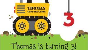 Crane Party Invitations Crane Construction Truck Birthday Party Invitation by