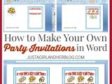 Create Your Own Birthday Party Invitations Free Make Your Own Party Invitations Party Invitations Templates