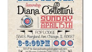 Cubs Baby Shower Invitations Chicago Cubs Baby Shower Invitation Baseball by