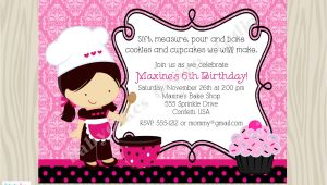 Cupcake Decorating Birthday Party Invitations Cupcake Decorating Party Birthday Invitation Invite Cupcake