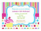 Cupcake Party Invitation Template Free Rainbow Cupcake Birthday Party Invitations 5 Quot X 7