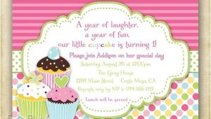 Cupcake Party Invitation Wording Cupcake Birthday Invitations Ideas for Her Bagvania Free