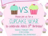Cupcake Wars Birthday Party Invitations Cupcake War Birthday Invitation Cupcake Wars