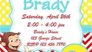 Curious George 2nd Birthday Invitations Curious George Birthday Invitation by Whitetulippaperie On