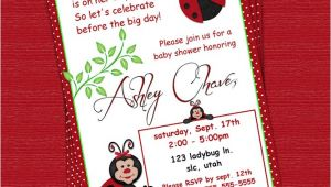 Custom Baby Shower Invitations Online Red Ladybug Polka Dot Custom Baby Shower Invitation