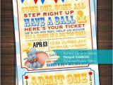 Custom Birthday Invitations Walgreens Dumbo Circus Baby Shower Birthday Invitation