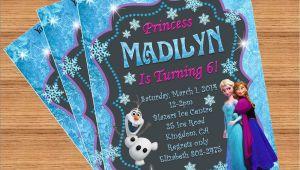 Custom Birthday Invitations with Photo Frozen Birthday Invitation Custom Invitation