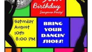 Custom Disco Party Invitations Custom Disco Birthday Party Invitations Zazzle