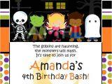 Custom Halloween Birthday Invitations Custom Personalized Halloween Birthday Party by