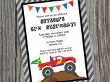 Custom Invitations Birthday Custom Printable Monster Truck Birthday Party Invitation