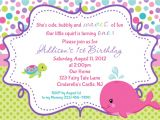 Custom Invitations Birthday Whale Birthday Invitation Personalized by Afairytalebeginning