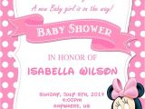 Custom Minnie Mouse Baby Shower Invitations 10 Best Minnie Mouse Baby Shower Invitations Walmart