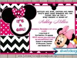 Custom Minnie Mouse Baby Shower Invitations 78 Best Images About Minnie Mouse Baby Shower On Pinterest