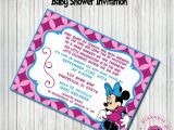 Custom Minnie Mouse Baby Shower Invitations Items Similar to Minnie Mouse Baby Shower Invitation