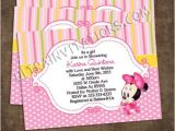 Custom Minnie Mouse Baby Shower Invitations Minnie Baby Shower Invitations Personalized Invites