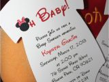 Custom Minnie Mouse Baby Shower Invitations Minnie Mouse Esie Baby Shower Invitation All Wording