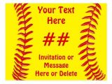 Custom softball Birthday Invitations softball Birthday Party Bing Images