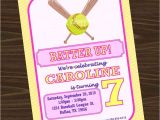 Custom softball Birthday Invitations softball Birthday Party Invitation softball Invitation and