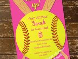 Custom softball Birthday Invitations softball Invitation Birthday Invitation softball Invite