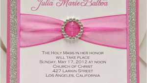 Customize Quinceanera Invitations Bright Pink Quinceanera Sweet Sixteen Invitation Full Of