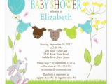 """Cute Baby Shower Invitations for Boys Cute Clothesline Boy Baby Shower Invitations 5 25"""" Square"""