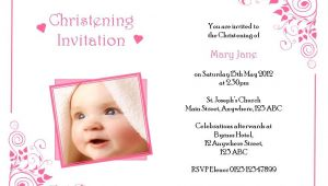 Cute Baptismal Invitation for Baby Girl Baby Girl Baptism Invitation Template – orderecigsjuicefo