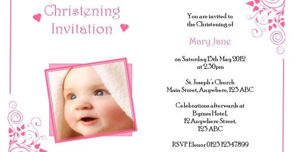 Cute Baptismal Invitation for Baby Girl Baby Girl Baptism Invitation Template – orderecigsjuicefo