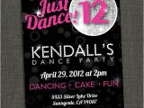 Dance Party Invitation Template Dance Party Invitation Printable or by Michelepurnerdesigns