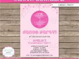 Dance Party Invitation Template Dance Party Invitation Template Birthday Party Instant
