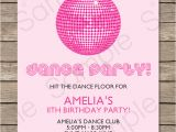 Dance Party Invitation Template Dance Party Invitations Template Birthday Party