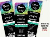 Dance Party Invitation Template Dancing Party Invitation Dance Party Ticket Template Instant