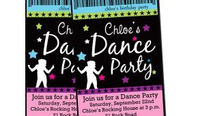 Dance Party Invitations Templates Cupcake Cutiees Dance Party Invites and Printable Party Store